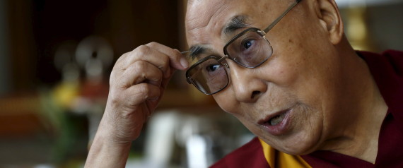 Tibetan spiritual leader the Dalai Lama talks with journalists in Geneva